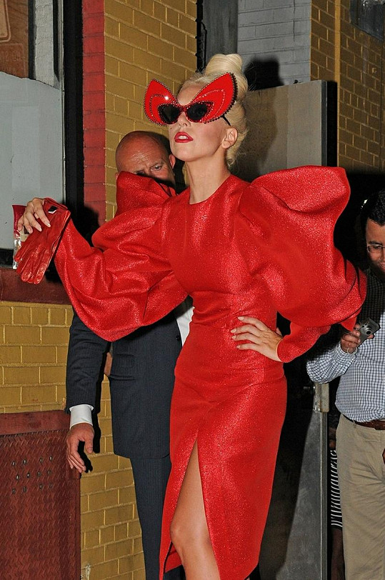 Lady Gaga v New Yorku.