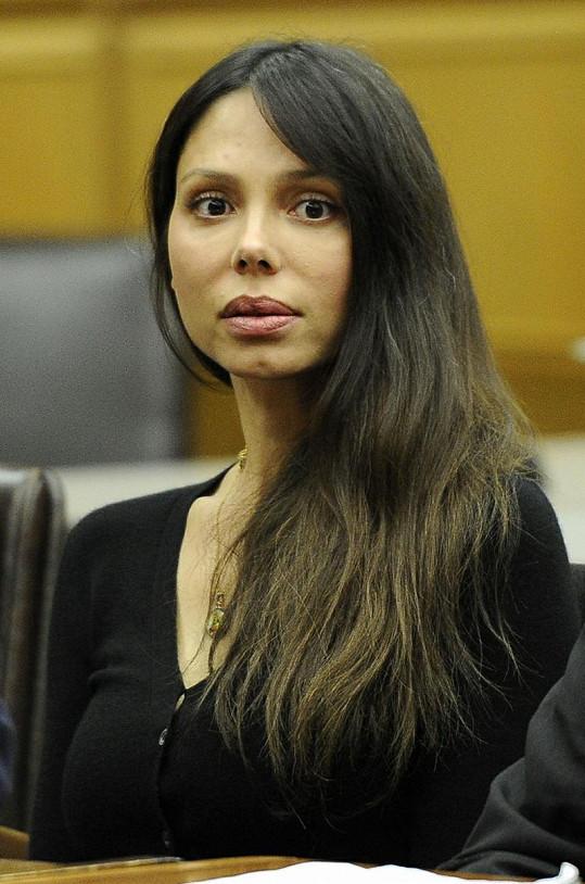 Oksana Grigorieva před soudem.
