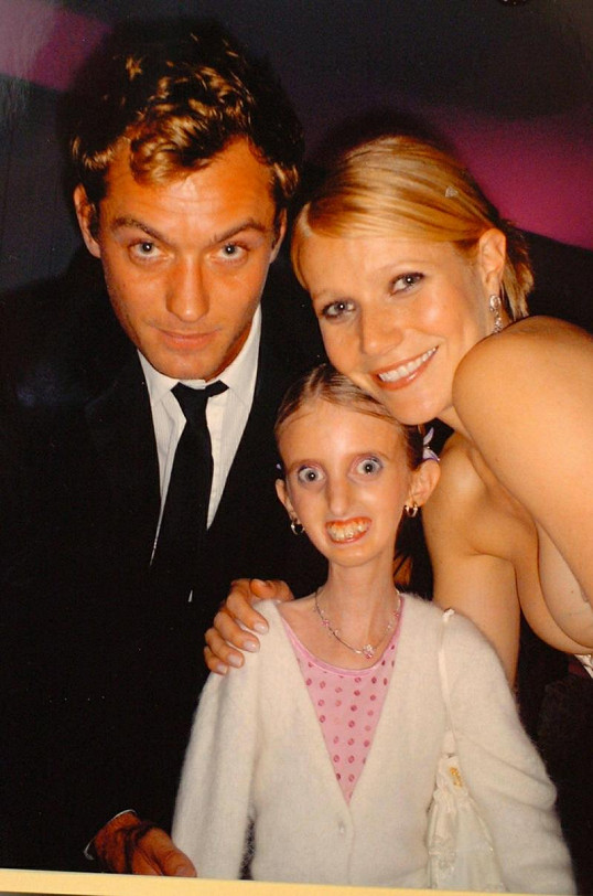 Adrienne, Jude Law a Gwyneth Paltrow.