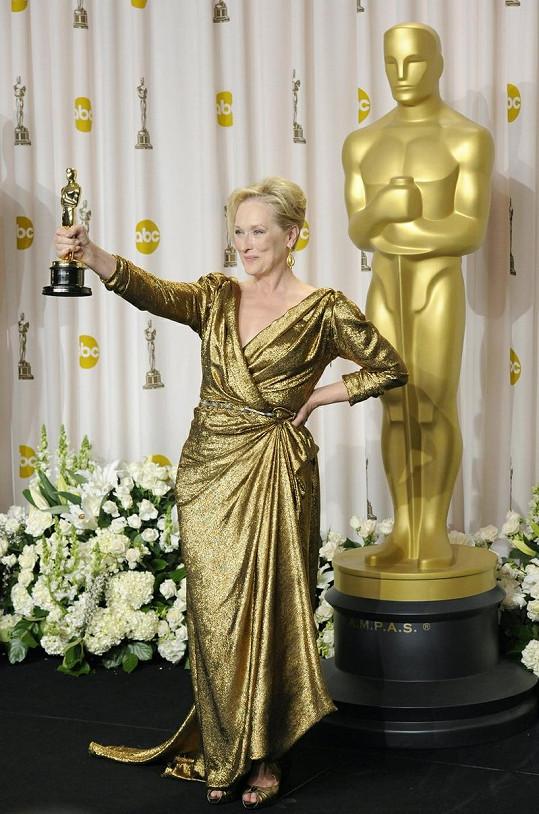 Americká herečka ovládla slavnostní večer jako trojnásobná nositelka cenné sošky.