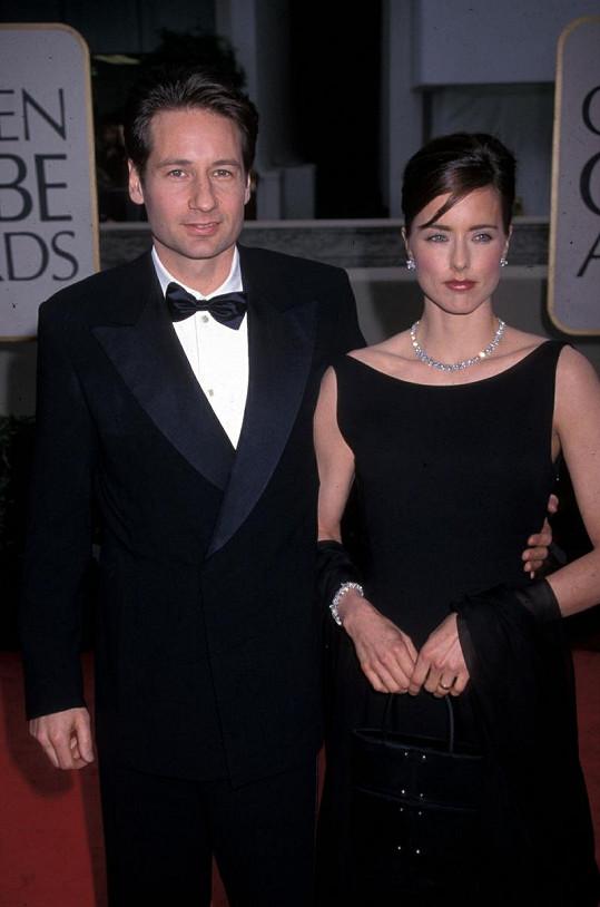 David Duchovny s manželkou Teou Leoni.