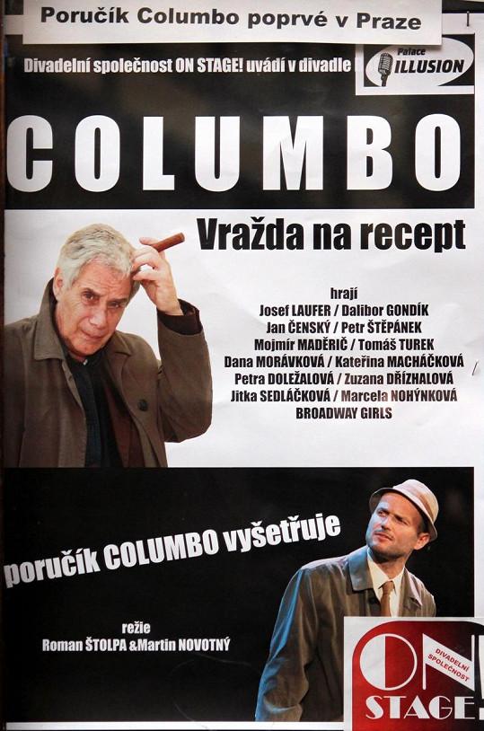 Plakát k divadelní hře, kde je uvedena ještě i Dřízhalová.