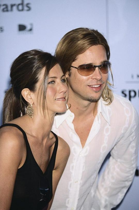 Herečka s bývalým manželem Bradem Pittem.