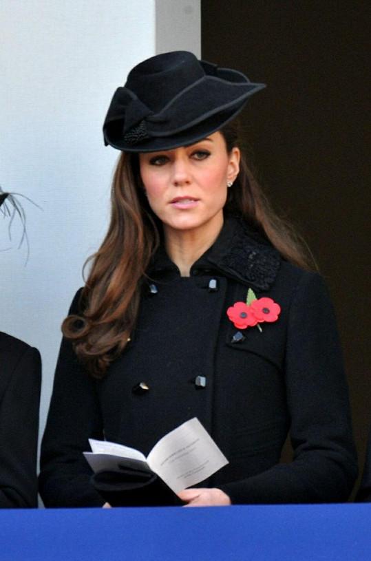 Vévodkyně Catherine si potrpí i na klobouky.