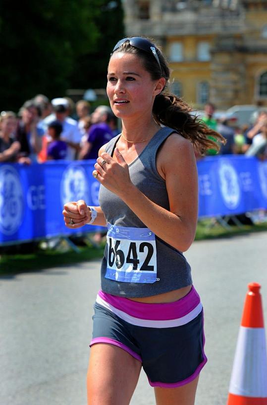 Pippa Middleton v běhu.