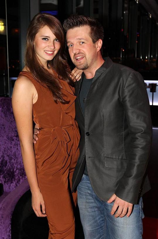 Dominika Hašková se svým přítelem Janem Nedvědem.