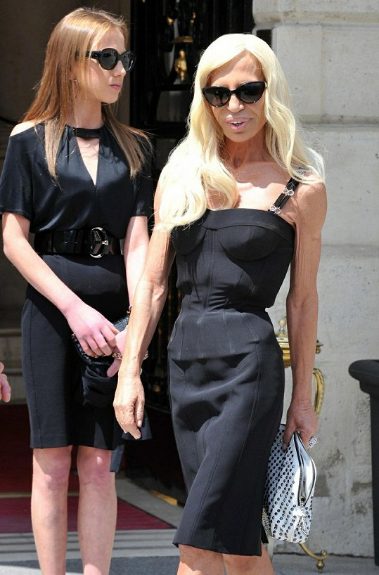 Donatella Versace s dcerou.