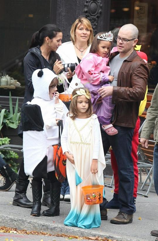 Známý americký herec s rodinou.