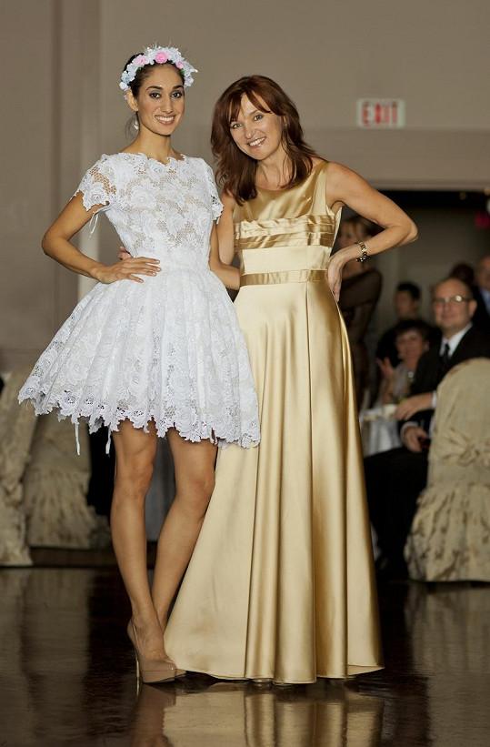 Celkem dvacet Beatiných modelů předváděly kromě Kateřiny i místní kanadské modelky.