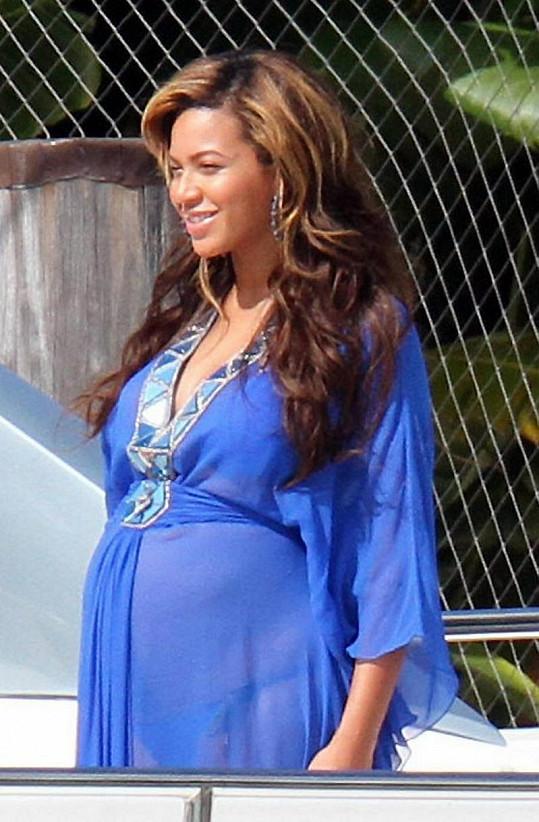 Těhotná zpěvačka Beyoncé.
