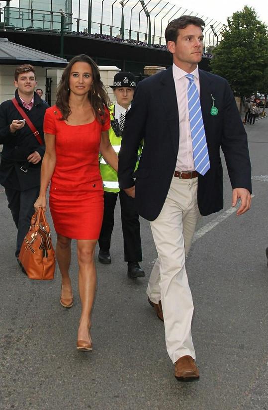 Alex Loudon s Pippou Middleton vyrazili na Wimbledon.