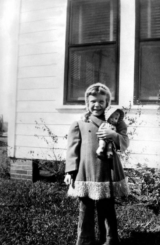 Janis Joplin jako nevinná a roztomilá holčička.