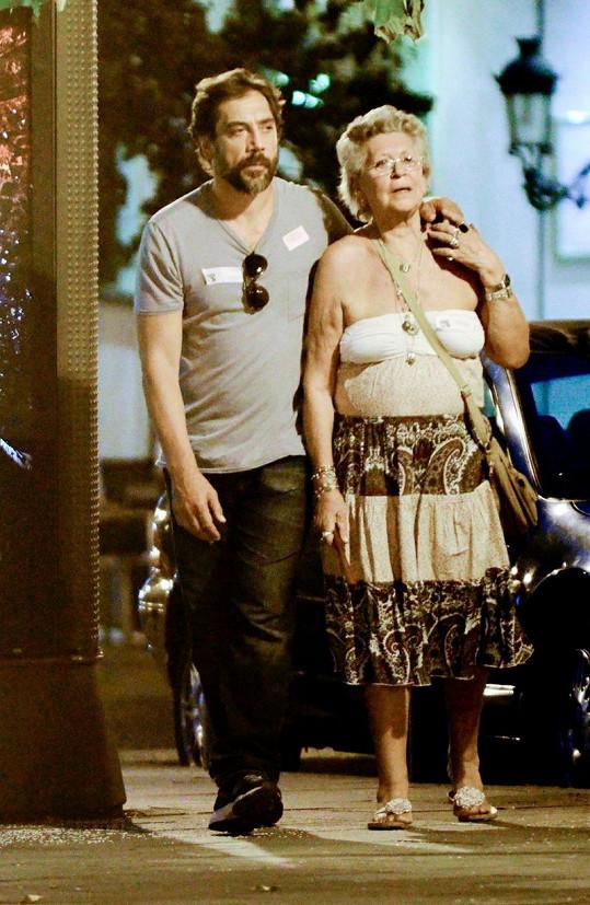 Javier Bardem a jeho maminka Pilar.