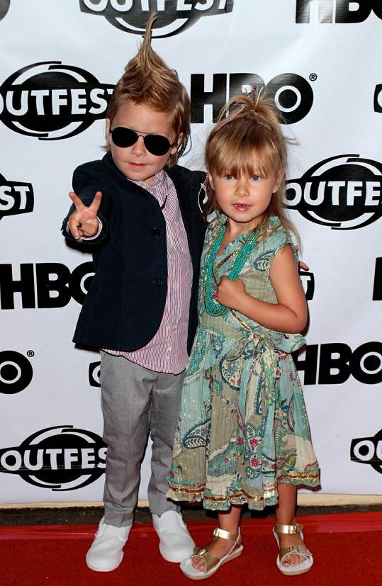 Děti slavné herečky - Liam a Stella.