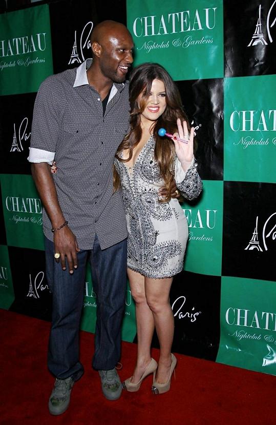 Khloe Kardashian s manželem.