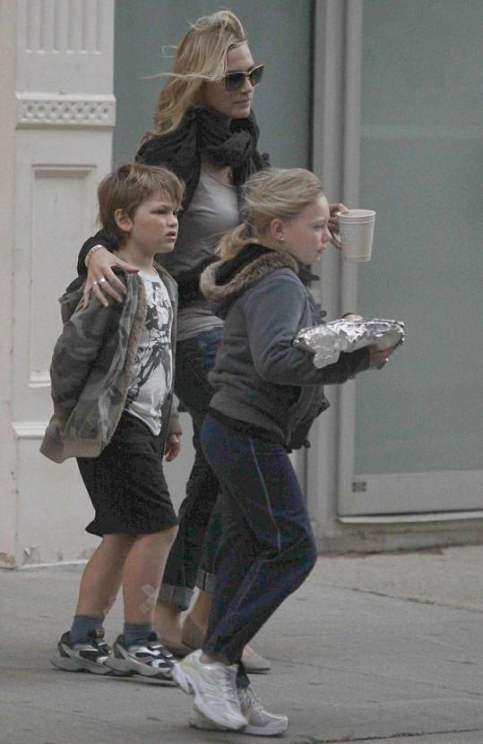 Kate Winslet s dětmi.