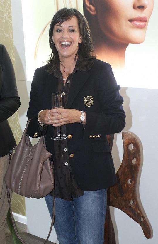 Tereza Brodská a její typický zářivý úsměv.