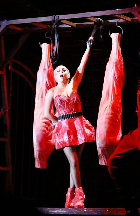 Lady Gaga během svého koncertu v Tchaj-wanu.