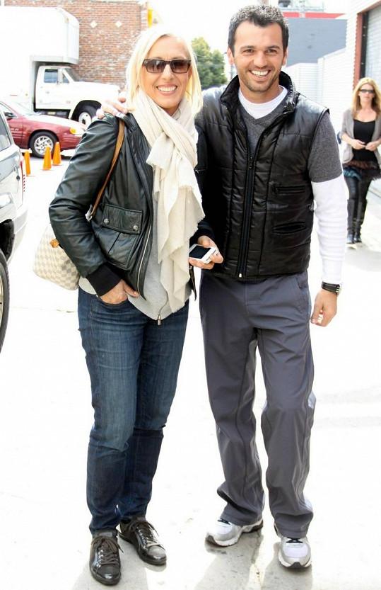 Martina Navrátilová s tanečním partnerem Tonym Dovolanim.