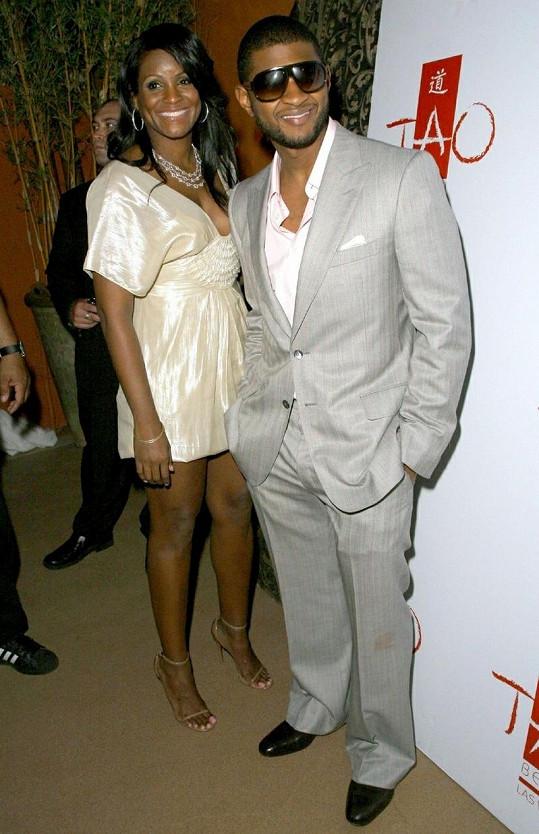 Oblíbený zpěvák se svou bývalou manželkou Tameku Foster.