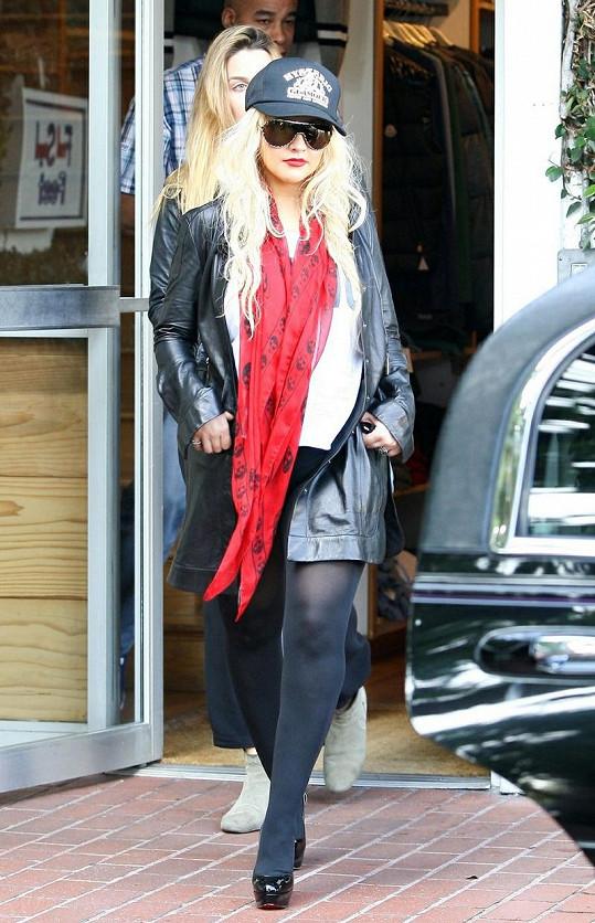 Christina Aguilera vyrazila na nákupy.