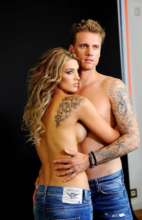 Klára s manželem v reklamní kampani.