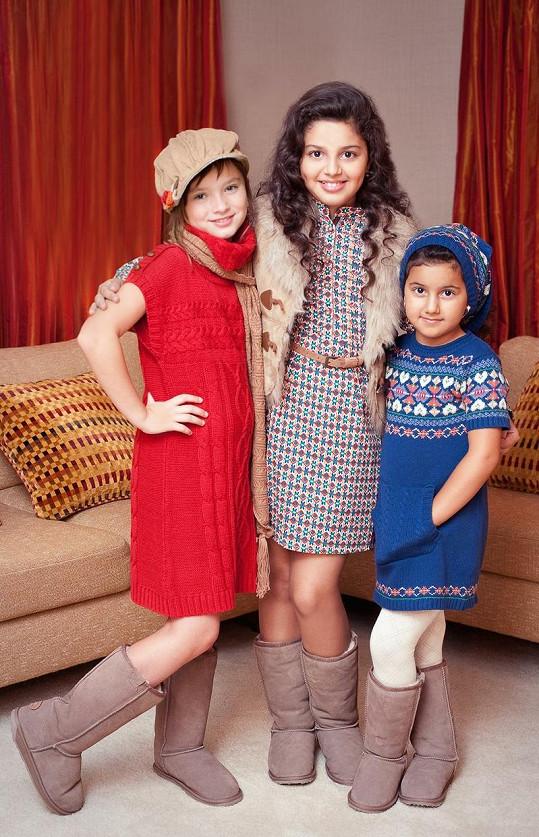 Dianka (uprostřed) se sestrou Sofinkou (vpravo) a kamarádkou.
