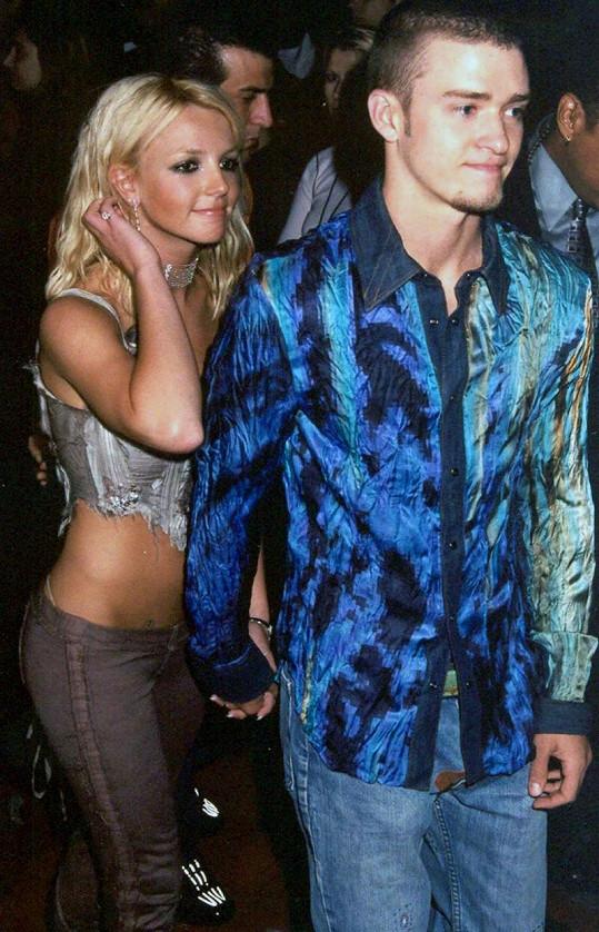 Justin Timberlake a Britney Spears na snímku z roku 2001.