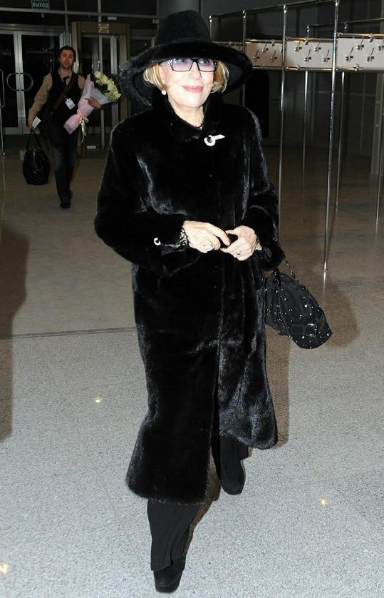 Ruská herečka je za všech okolností elegantní.