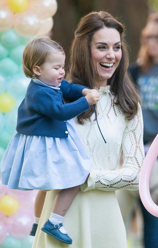 Vévodkyně Kate s dcerkou Charlotte