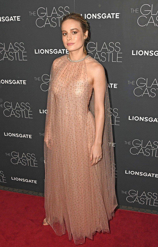 Brie Larson na premiéře filmu The Glass Castle