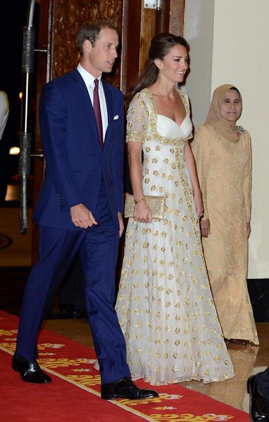 William s manželkou Kate jdou na večeři v Kuala Lumpuru.