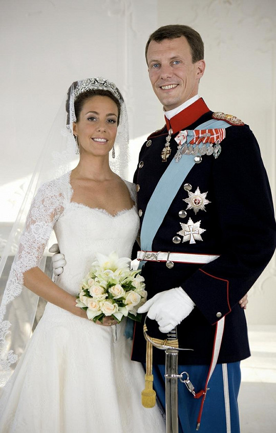 Svatební fotografie prince Joachima a princezny Marie.