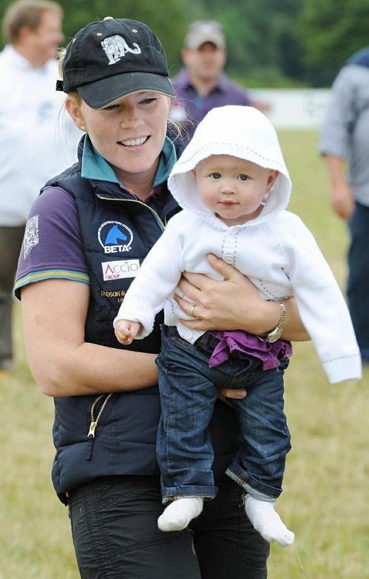 Autumn Phillips s dcerkou Savannah.