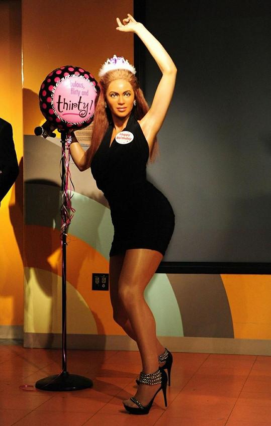 Nepovedená vosková figurína Beyoncé k jejím narozeninám.