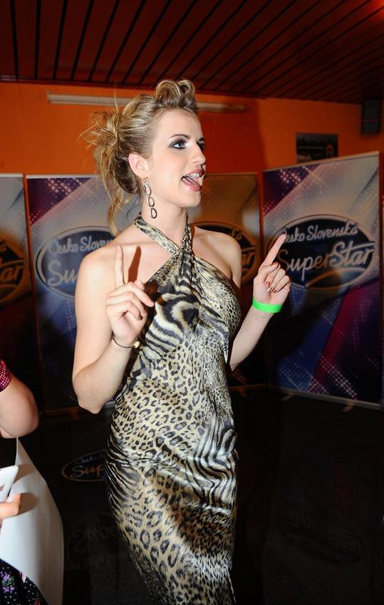 Gabriela Gunčíková si párty i přes prohru pořádně užila.