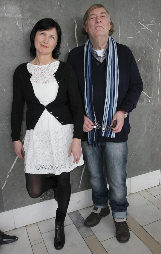 Simona Chytrová s manželem Vítem Olmerem