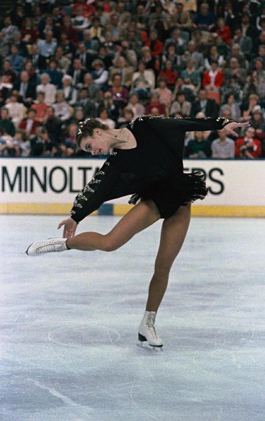 Katarina na Mistrovství světa v roce 1987 v Cincinnati.