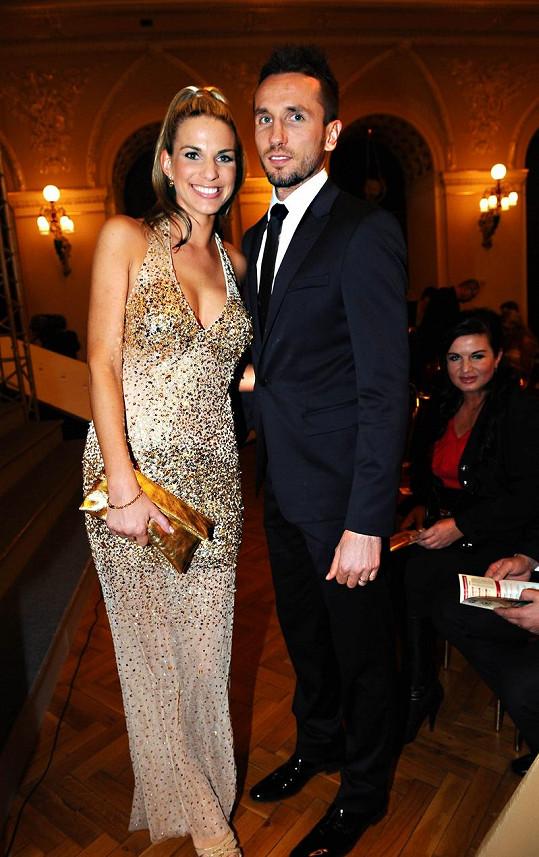Tomáš Sivok z tureckého Besiktasu s krásnou manželkou Míšou.