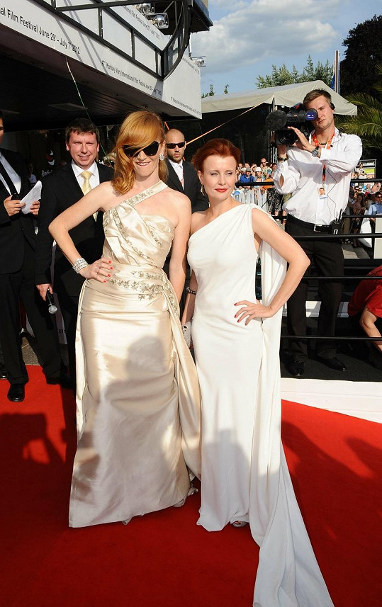 Aňa Geislerová a Jitka Schneiderová zvolily šaty od Diora.