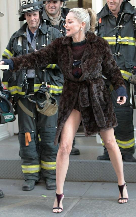 Sharon Stone nedávno okouzlila i newyorské hasiče.