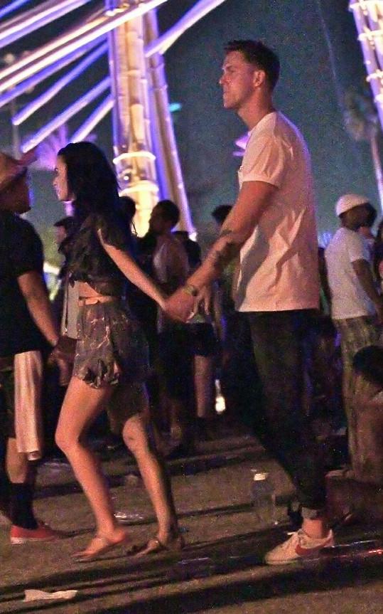 Katy a Robert na hudebním festivalu Coachella.