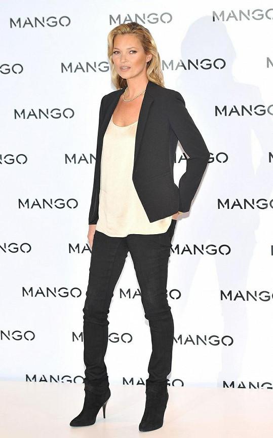 Kate Moss byla okouzlující.