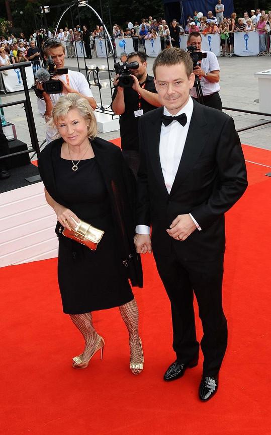 Exministr Pavel Němec s manželkou.