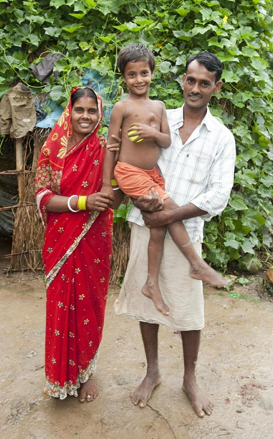 Deepak Paswaan s rodiči.