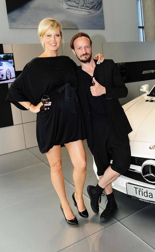 Simona se svým manažerem Mario Sečkářem.