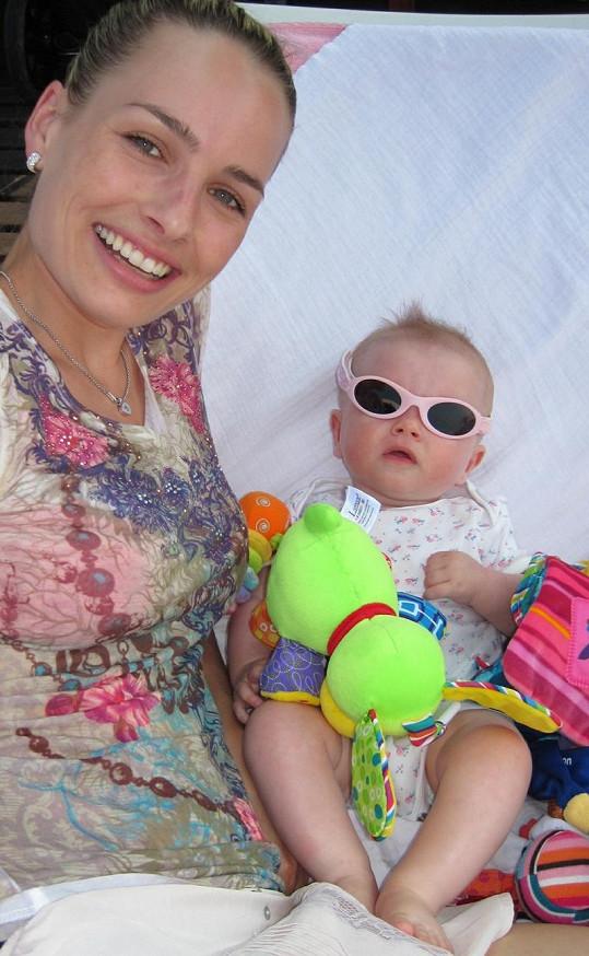 Markéta s dcerou Natálkou.