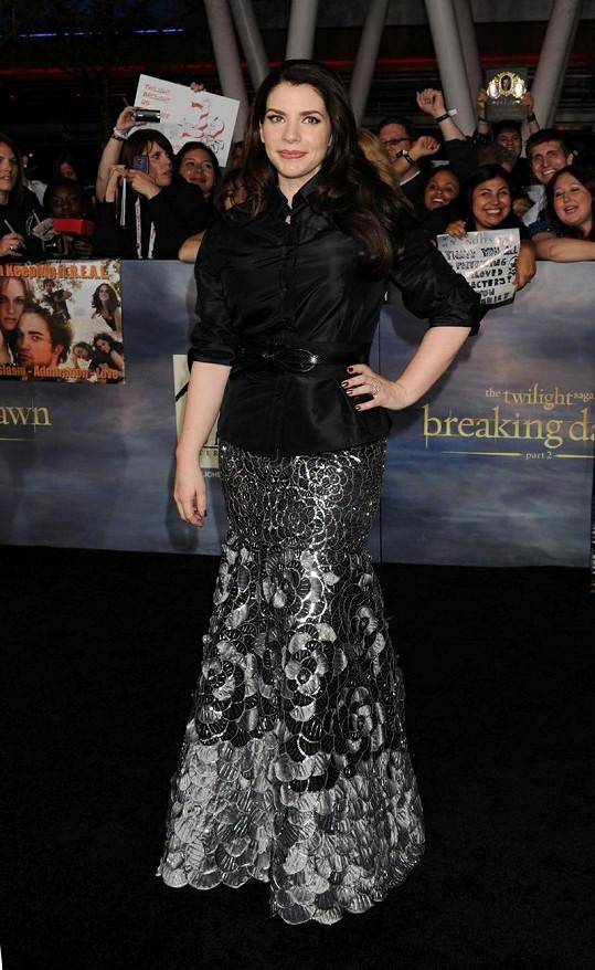 Stephenie Meyer na nedávné premiéře finálního dílu Twilight ságy.