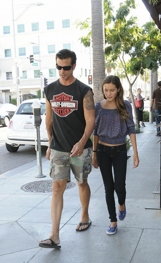 Lorenzo Lamas a jeho 13letá dcera Alexandra.