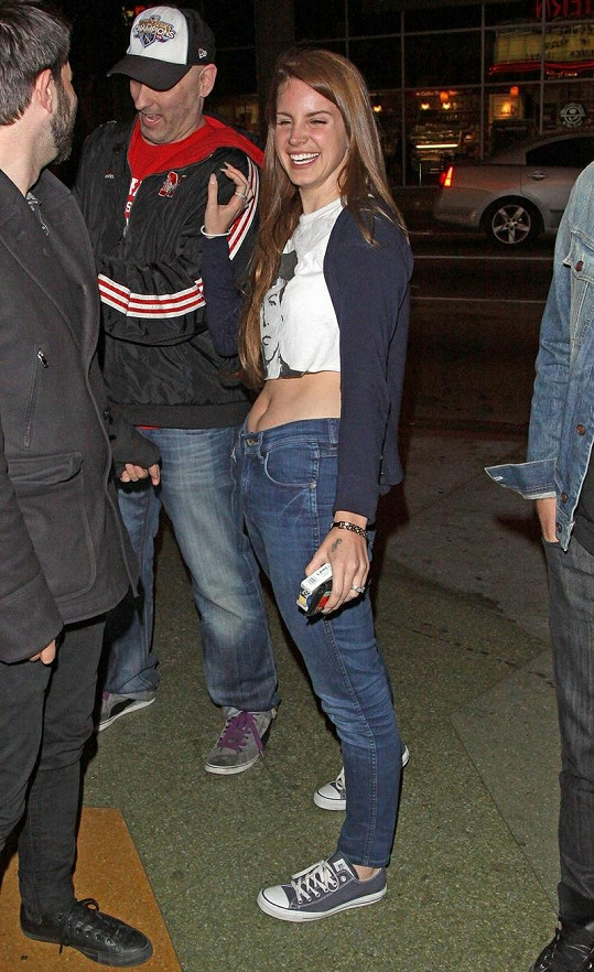 Vysmátá Lana navštívila koncert Guns N'Roses.